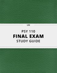PSY 110 Study Guide - Comprehensive Final Guide: Temporal Lobe Epilepsy, Frontal Lobe, Parietal Lobe