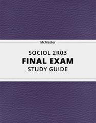 SOCIOL 2R03 Study Guide - Comprehensive Final Guide: Social Inequality, Hunter-Gatherer, United Nations Development Programme
