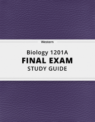 [Biology 1201A] - Final Exam Guide - Comprehensive Notes for the exam (52 pages long!)