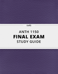 [ANTH 1150] - Final Exam Guide - Comprehensive Notes for the exam (24 pages long!)