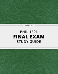 [PHIL 1F91] - Final Exam Guide - Everything you need to know! (52 pages long)