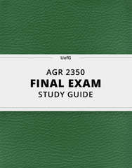 [AGR 2350] - Final Exam Guide - Ultimate 33 pages long Study Guide!