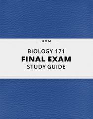 [BIOLOGY 171] - Final Exam Guide - Comprehensive Notes for the exam (178 pages long!)
