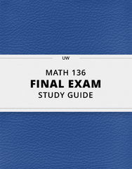 [MATH 136] - Final Exam Guide - Ultimate 22 pages long Study Guide!