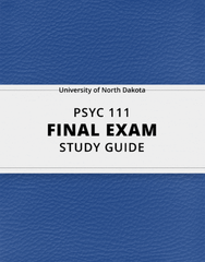 [PSYC 111] - Final Exam Guide - Ultimate 36 pages long Study Guide!