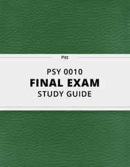 [PSY 0010] - Final Exam Guide - Ultimate 23 pages long Study Guide!