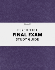 [PSYCH 1101] - Final Exam Guide - Everything you need to know! (104 pages long)