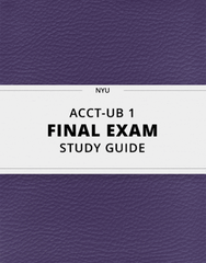 ACCT-UB 1 Study Guide - Comprehensive Final Guide: Cash Flow Statement, Accrual, Accounts Payable