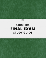 CRIM 104 Study Guide - Comprehensive Final Guide: Florian Znaniecki, Informal Social Control, General Strain Theory
