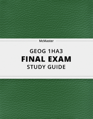 [GEOG 1HA3] - Final Exam Guide - Comprehensive Notes for the exam (61 pages long!)