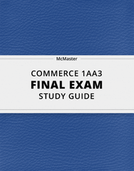 [COMMERCE 1AA3] - Final Exam Guide - Comprehensive Notes for the exam (23 pages long!)