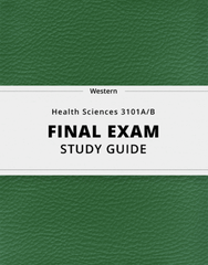 [Health Sciences 3101A/B] - Final Exam Guide - Everything you need to know! (33 pages long)
