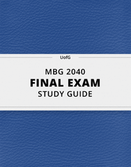 [MBG 2040] - Final Exam Guide - Ultimate 57 pages long Study Guide!