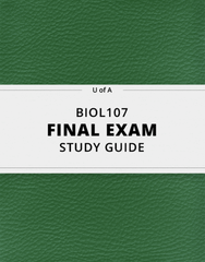 [BIOL107] - Final Exam Guide - Comprehensive Notes for the exam (33 pages long!)