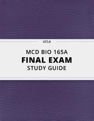 [MCD BIO 165A] - Final Exam Guide - Everything you need to know! (48 pages long)