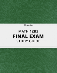 [MATH 1ZB3] - Final Exam Guide - Ultimate 30 pages long Study Guide!