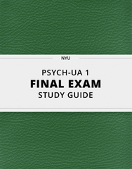 [PSYCH-UA 1] - Final Exam Guide - Comprehensive Notes for the exam (40 pages long!)