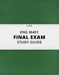 [ENG M401] - Final Exam Guide - Ultimate 84 pages long Study Guide!