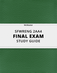 [SFWRENG 2AA4] - Final Exam Guide - Ultimate 60 pages long Study Guide!
