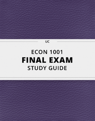 [ECON 1001] - Final Exam Guide - Ultimate 36 pages long Study Guide!