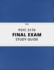[PSYC 3170] - Final Exam Guide - Comprehensive Notes for the exam (113 pages long!)