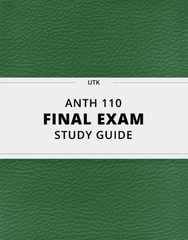 [ANTH 110] - Final Exam Guide - Ultimate 24 pages long Study Guide!