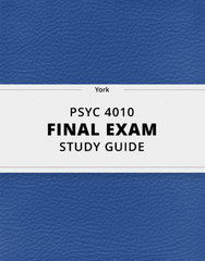 [PSYC 4010] - Final Exam Guide - Ultimate 27 pages long Study Guide!