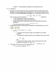 Textbook Guide Physics: Angular Frequency, Propagation Constant, Electrical Resistance And Conductance