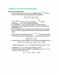 Textbook Guide Physics: Vector Projection, Cartesian Coordinate System, Projectile Motion