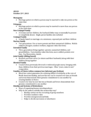 AN101 Lecture Notes - Lecture 7: Unilineality, Single Parent, List Of A Song Of Ice And Fire Characters