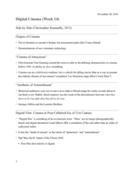 ETS 154 Lecture Notes - Lecture 24: Grand Theft Auto, Digital Cinematography, Gameline
