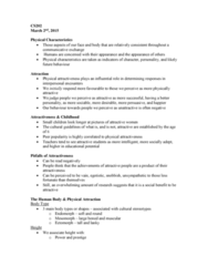 CS202 Lecture Notes - Lecture 6: Facial Hair, Physical Attractiveness