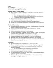 CS202 Lecture Notes - Lecture 10: The Techniques, Paralanguage, Sound Bite
