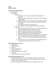 CS202 Lecture Notes - Lecture 9: Long Shot, Claustrophobia, Public Space