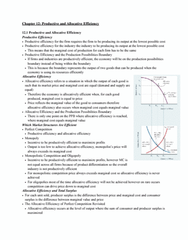 ECON 110 Chapter Notes - Chapter 12: Monopolistic Competition, Allocative Efficiency, Productive Efficiency