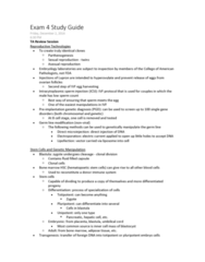 BIOL 0170 Study Guide - Final Guide: Somatic Cell Nuclear Transfer, Intracytoplasmic Sperm Injection, Preimplantation Genetic Diagnosis