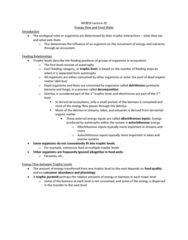 BIOB50H3 Lecture Notes - Lecture 20: Ecological Pyramid, Allochthon, Herbivore