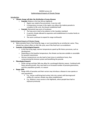 BIOB50H3 Lecture Notes - Lecture 24: Muskox, Ectotherm, Nematode