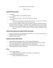 GEOG 1200 Lecture Notes - Lecture 3: Cool Air, Geosphere, Natural Circulation