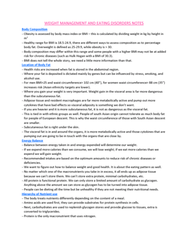 HTHSCI 3BB3 Lecture Notes - Lecture 18: Dsm-5, Bariatric Surgery, Fad Diet