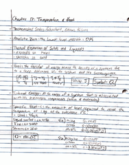 PHY 122 Lecture 11: Chapter 17 Notes and Examples
