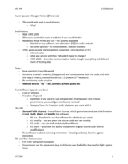 CCT360H5 Lecture Notes - Lecture 4: Arab Spring, Css Zen Garden, Software License