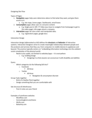 CCT360H5 Lecture Notes - Lecture 10: Page Footer, Page Header, Interaction Design