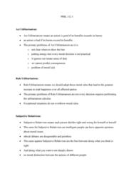 PHIL 112 Lecture Notes - Lecture 1: Relativism, Act Utilitarianism