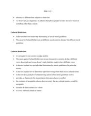 PHIL 112 Lecture Notes - Lecture 2: Cultural Relativism