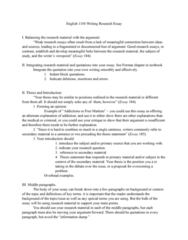 ENG 1100 Lecture Notes - Lecture 13: Thesis Statement