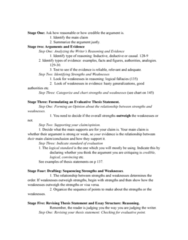 ENG 1100 Lecture Notes - Lecture 8: Thesis Statement