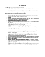 BU354 Chapter Notes - Chapter 14: Workplace Hazardous Materials Information System, Occupational Safety And Health, Hazard Analysis