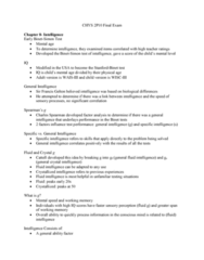 CHYS 2P10 Study Guide - Final Guide: Fluid And Crystallized Intelligence, Twin, Reading Disability