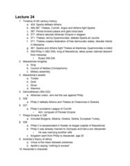 CLCIV 101 Lecture 24: Lecture 24